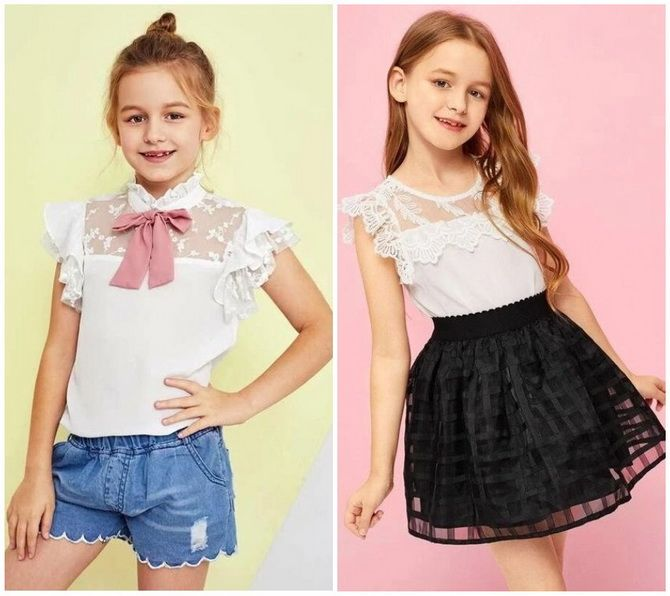 Шкільні блузки для дівчаток: створюємо сучасний образ у 2021-2022 році 11