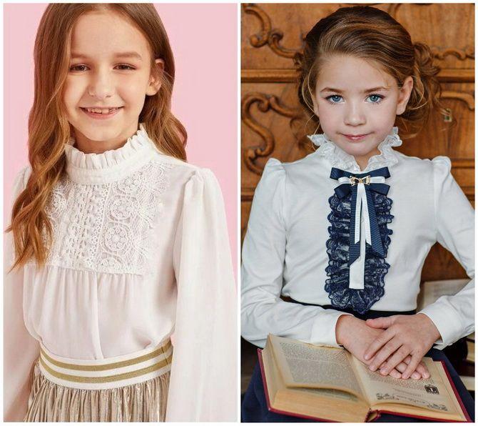 Шкільні блузки для дівчаток: створюємо сучасний образ у 2021-2022 році 12