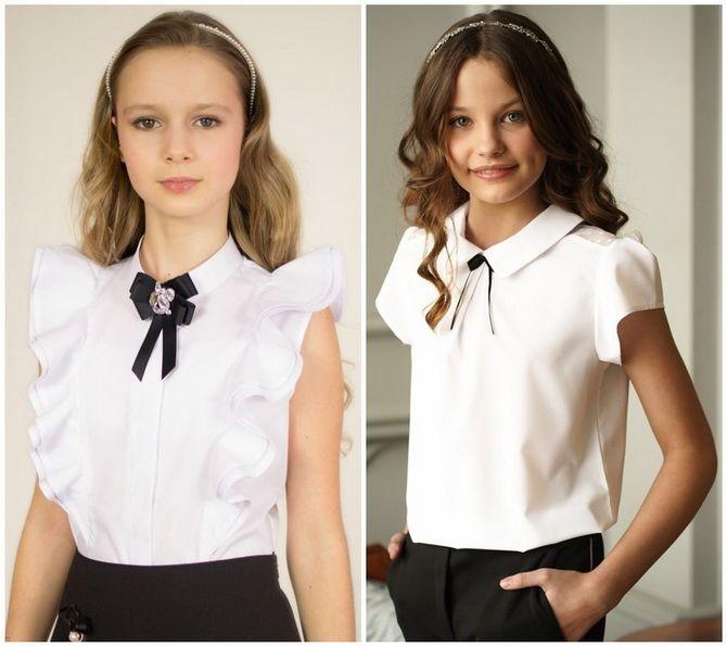 Шкільні блузки для дівчаток: створюємо сучасний образ у 2021-2022 році 13