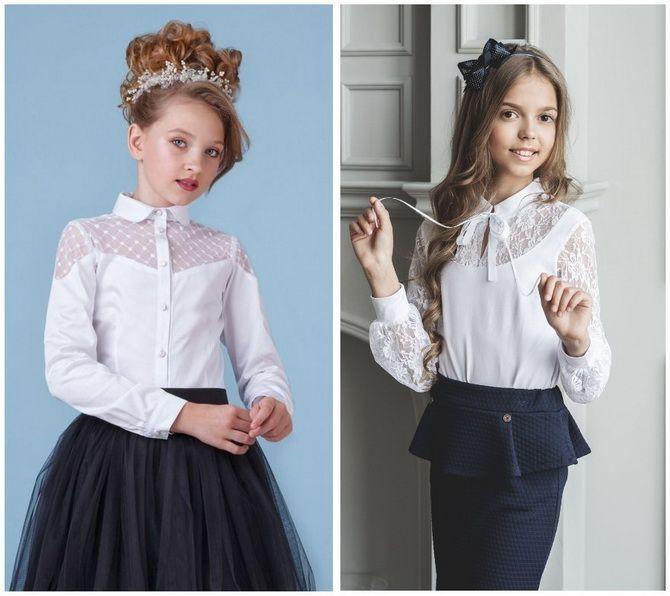 Шкільні блузки для дівчаток: створюємо сучасний образ у 2021-2022 році 14