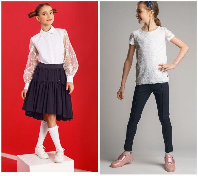 Шкільні блузки для дівчаток: створюємо сучасний образ у 2021-2022 році 17