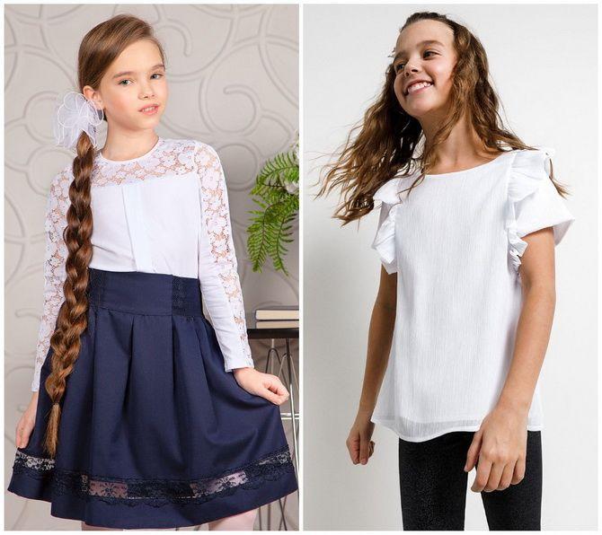 Шкільні блузки для дівчаток: створюємо сучасний образ у 2021-2022 році 18