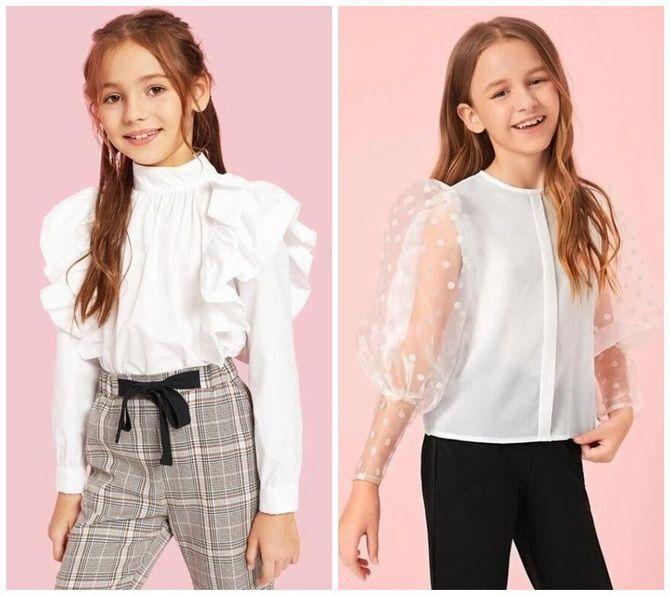 Шкільні блузки для дівчаток: створюємо сучасний образ у 2021-2022 році 2