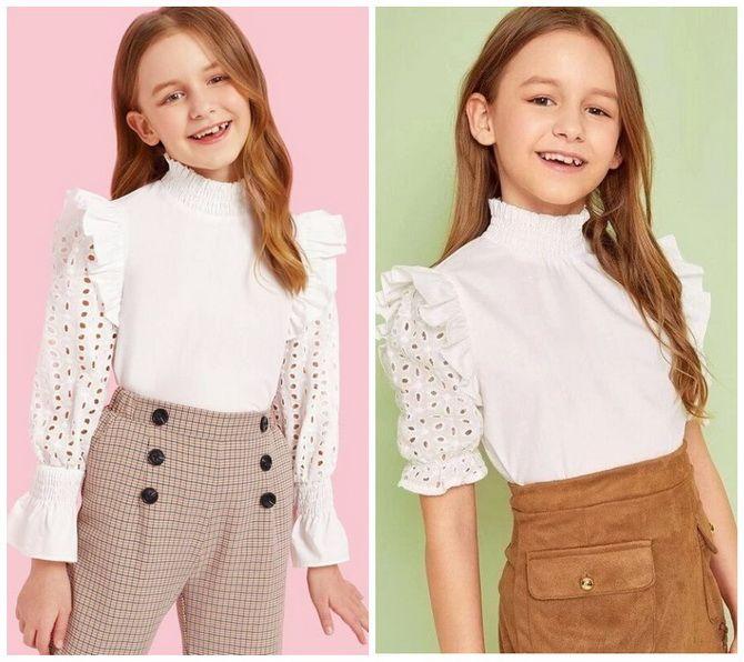 Шкільні блузки для дівчаток: створюємо сучасний образ у 2021-2022 році 3