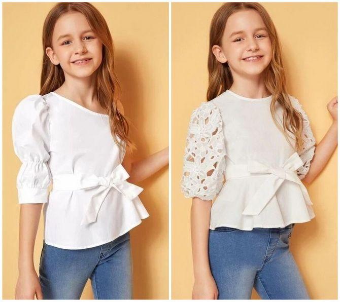 Шкільні блузки для дівчаток: створюємо сучасний образ у 2021-2022 році 4