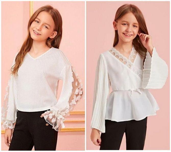 Шкільні блузки для дівчаток: створюємо сучасний образ у 2021-2022 році 5