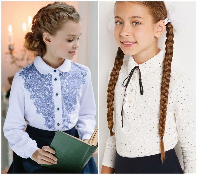 Шкільні блузки для дівчаток: створюємо сучасний образ у 2021-2022 році 8