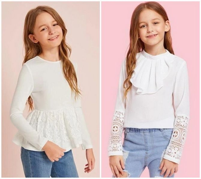 Шкільні блузки для дівчаток: створюємо сучасний образ у 2021-2022 році 9