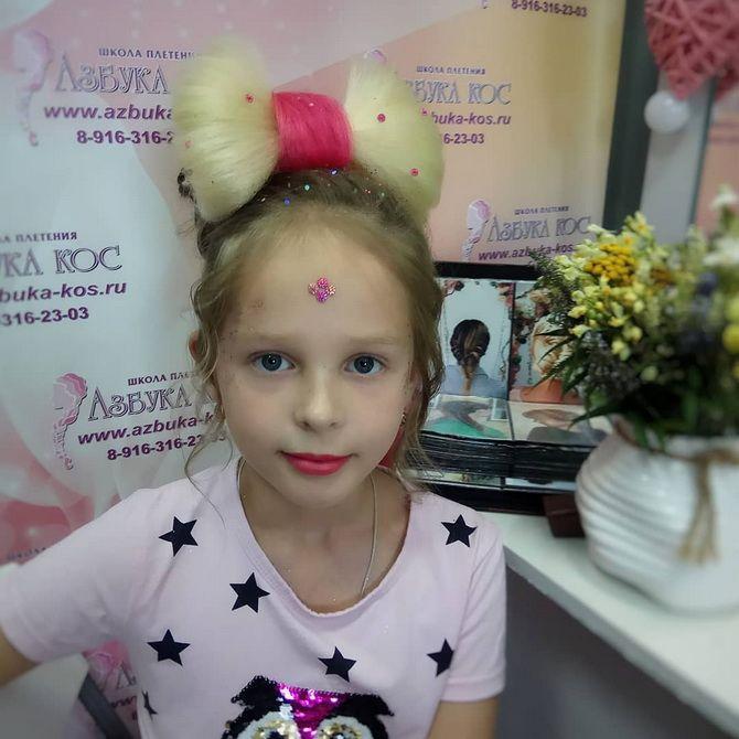 Зачіска з 1 бантом для дівчинки: стильні ідеї на 1 вересня 41