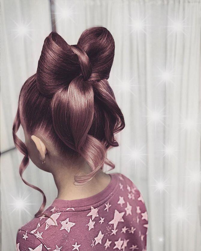 Зачіска з 1 бантом для дівчинки: стильні ідеї на 1 вересня 32