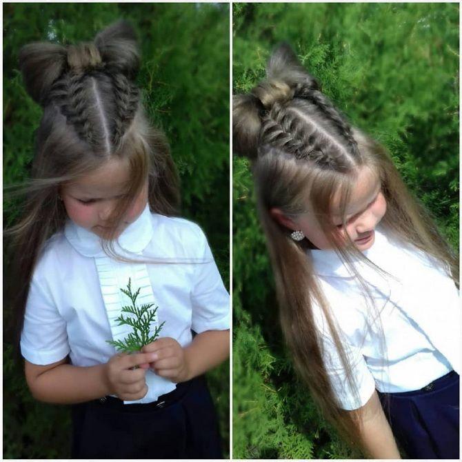 Зачіска з 1 бантом для дівчинки: стильні ідеї на 1 вересня 39