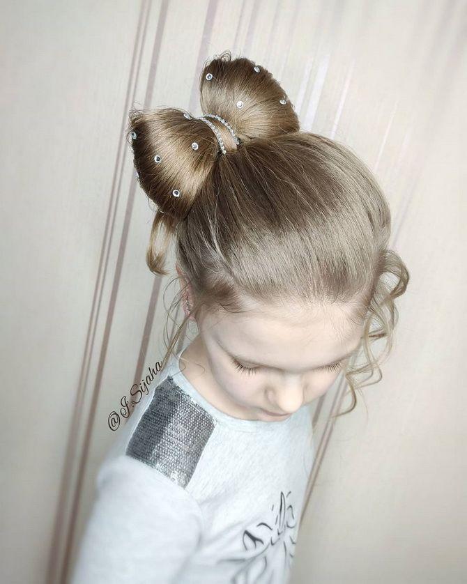 Зачіска з 1 бантом для дівчинки: стильні ідеї на 1 вересня 33