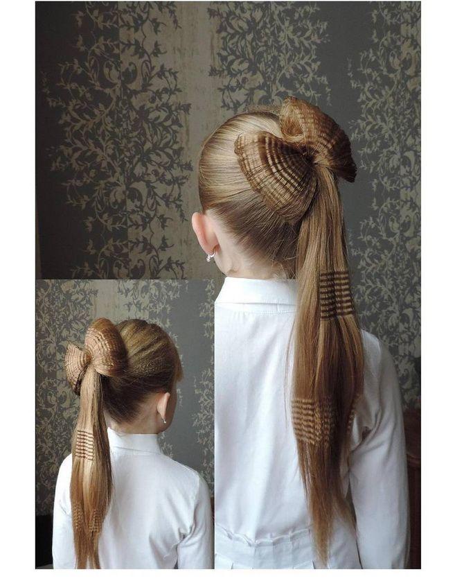 Зачіска з 1 бантом для дівчинки: стильні ідеї на 1 вересня 34