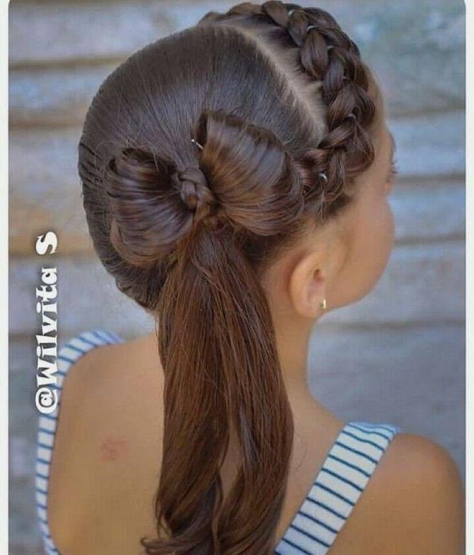 Зачіска з 1 бантом для дівчинки: стильні ідеї на 1 вересня 38
