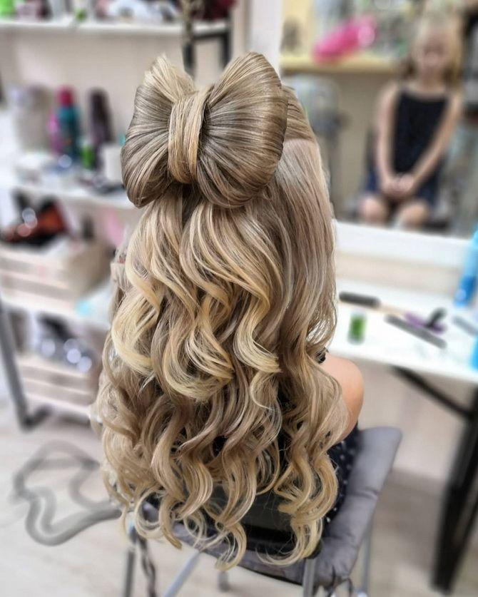 Зачіска з 1 бантом для дівчинки: стильні ідеї на 1 вересня 37