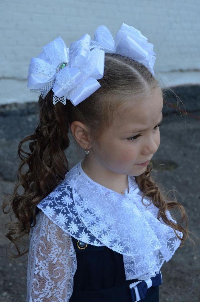 Прическа на 1 сентября 1 класс: модные первоклассницы 4