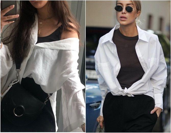 C чем носить белую рубашку: модные идеи 2020-2021 11