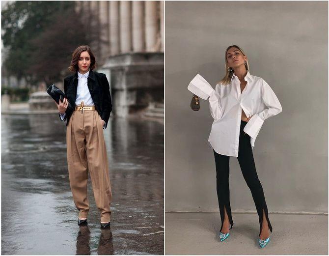 C чем носить белую рубашку: модные идеи 2020-2021 13