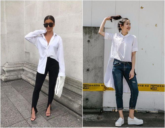 C чем носить белую рубашку: модные идеи 2020-2021 3