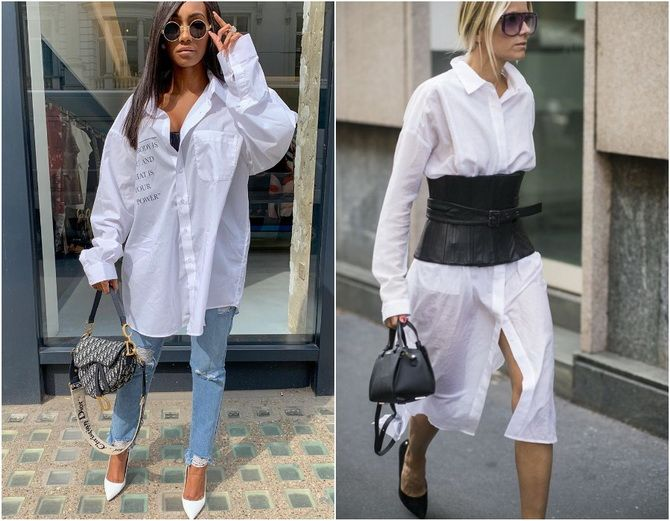 C чем носить белую рубашку: модные идеи 2020-2021 4