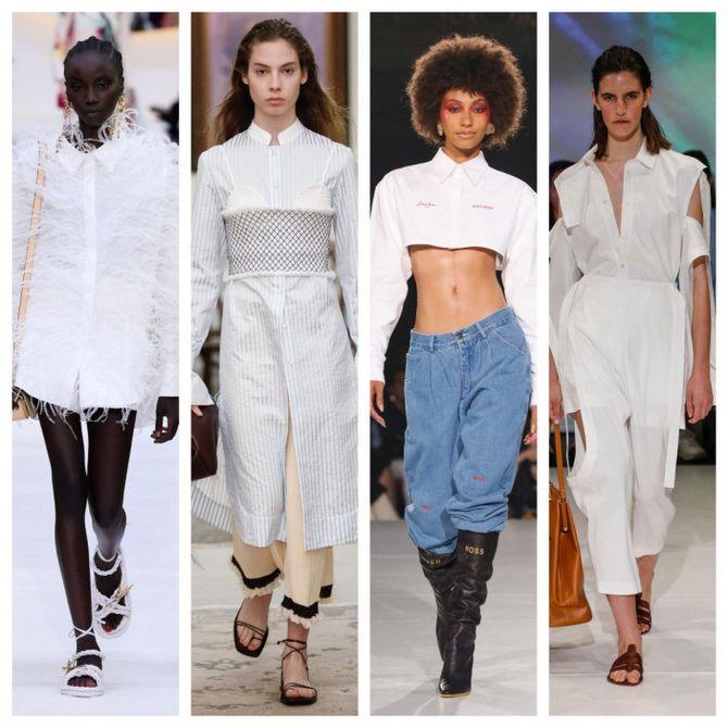 C чем носить белую рубашку: модные идеи 2020-2021 6