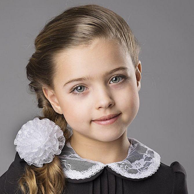 Зачіска з 1 бантом для дівчинки: стильні ідеї на 1 вересня 5