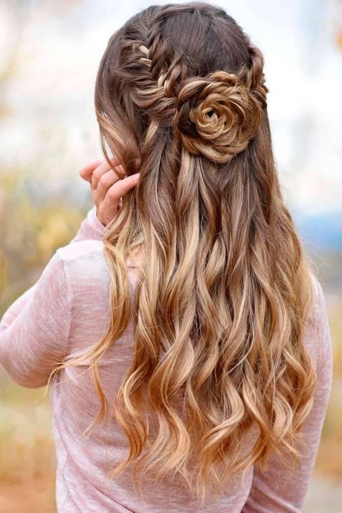 Красивые прически на 1 сентября с распущенными волосами для девочек 7