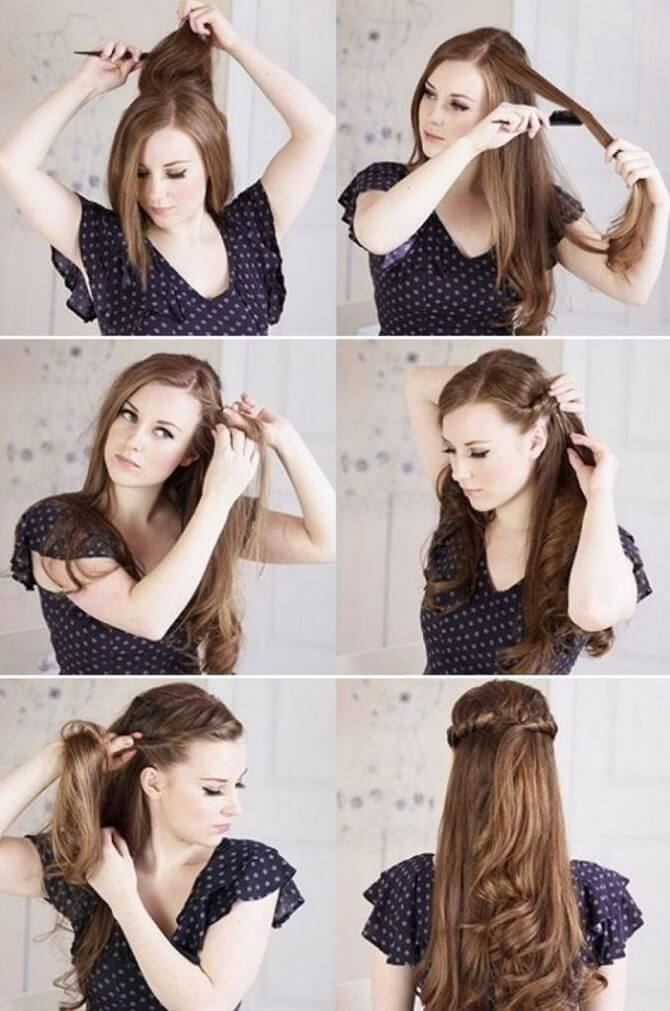 Красивые прически на 1 сентября с распущенными волосами для девочек 11