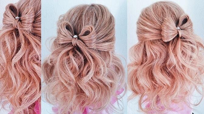 Красивые прически на 1 сентября с распущенными волосами для девочек 19