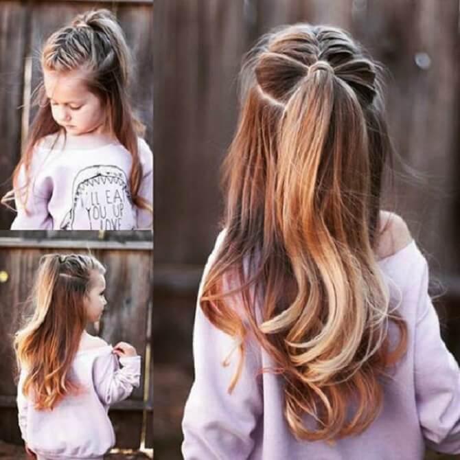 Красивые прически на 1 сентября с распущенными волосами для девочек 15