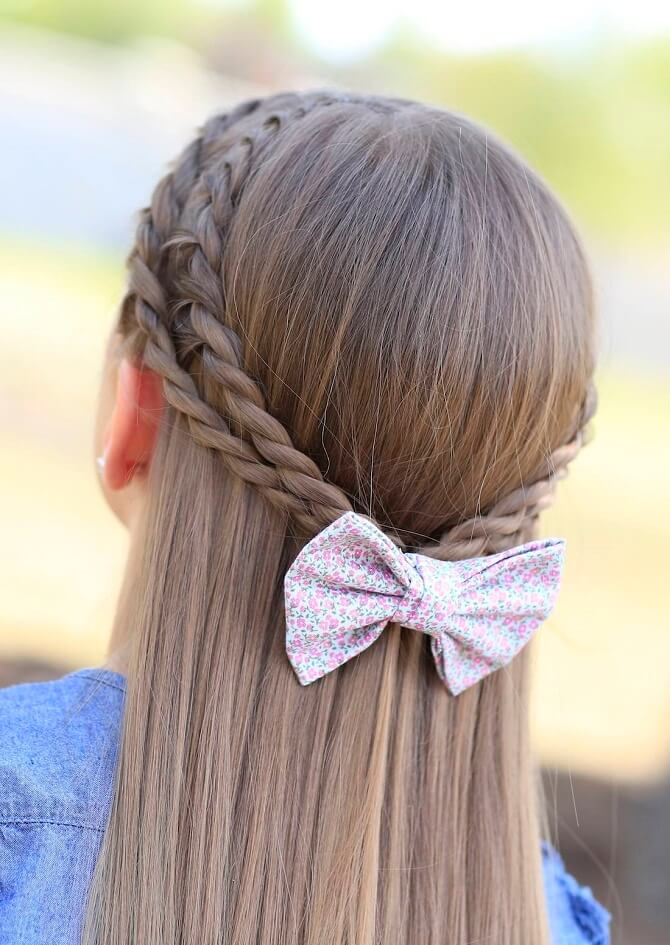 Красивые прически на 1 сентября с распущенными волосами для девочек 21