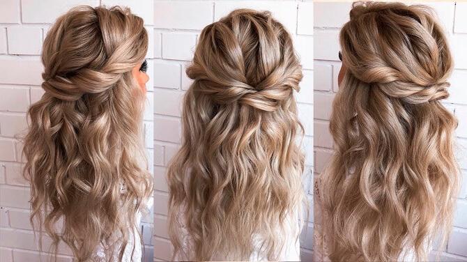 Красивые прически на 1 сентября с распущенными волосами для девочек 22