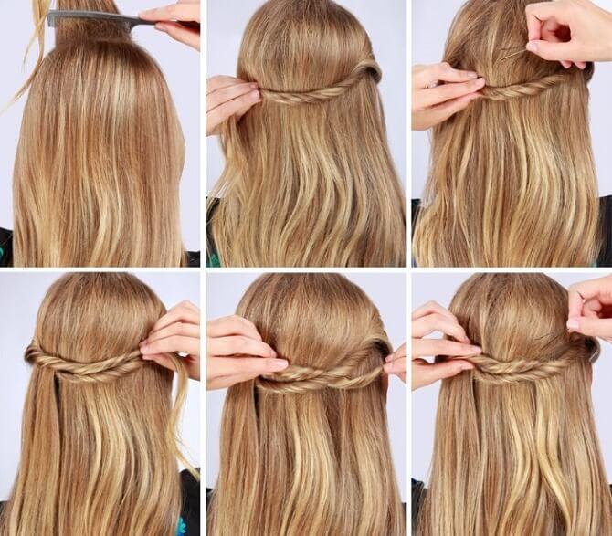 Красивые прически на 1 сентября с распущенными волосами для девочек 24