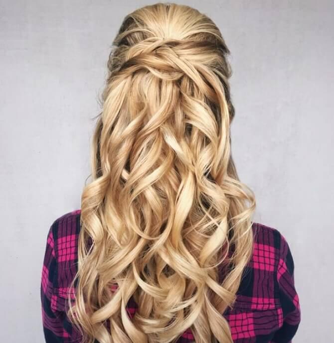 Красивые прически на 1 сентября с распущенными волосами для девочек 10