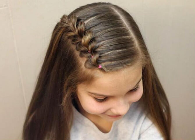 Красивые прически на 1 сентября с распущенными волосами для девочек 2