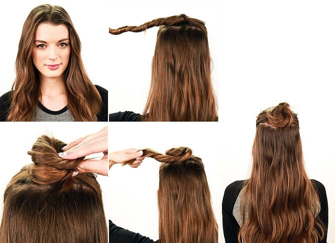 Красивые прически на 1 сентября с распущенными волосами для девочек 14
