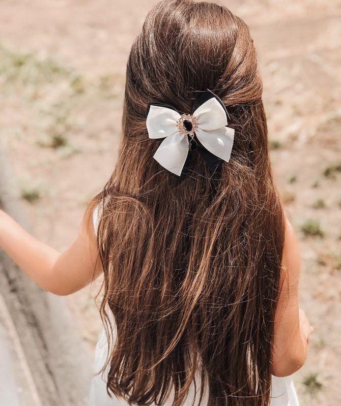 Зачіска з 1 бантом для дівчинки: стильні ідеї на 1 вересня 4