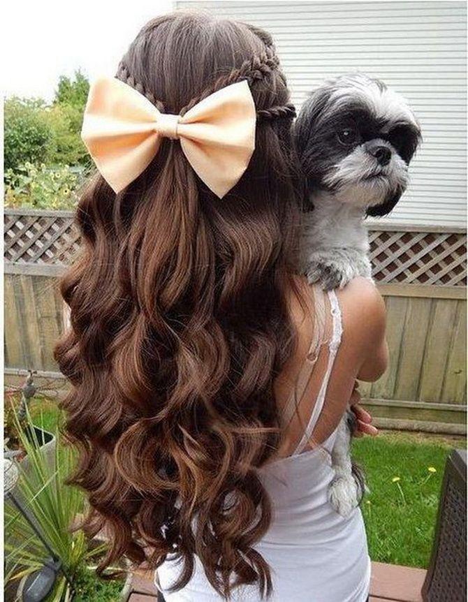 Зачіска з 1 бантом для дівчинки: стильні ідеї на 1 вересня 3