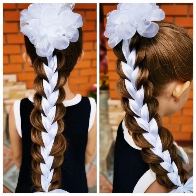 Зачіска з 1 бантом для дівчинки: стильні ідеї на 1 вересня 1