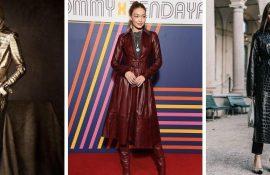 Leather coats 2020-2021: fashionable autumn outfits
