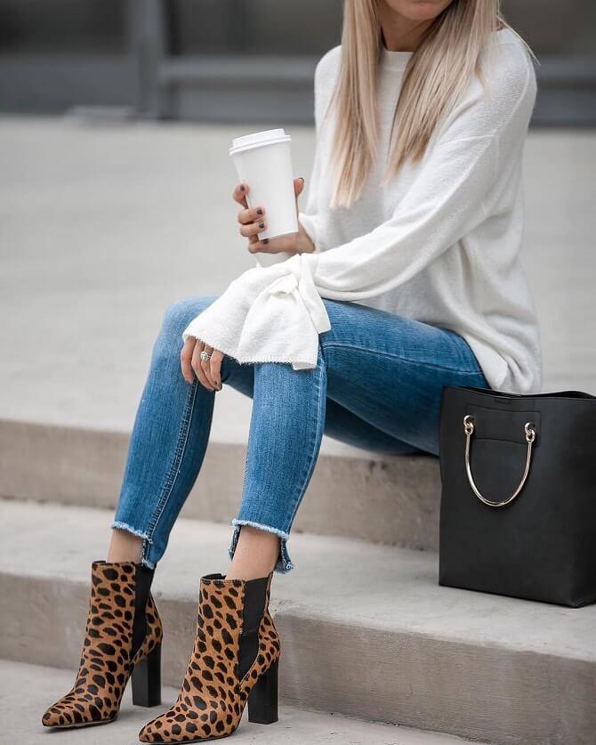 как подобрать джинсы и обувь для женщин