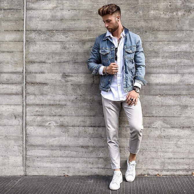 сочетания мужских джинсов и обуви