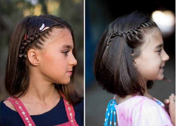 Красивые прически на 1 сентября с распущенными волосами для девочек 30