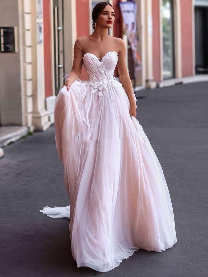 Цвета свадебных платьев 2021: основные тренды 22