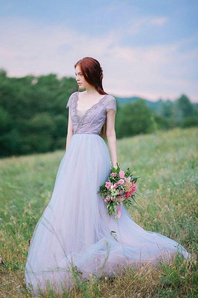 Цвета свадебных платьев 2021: основные тренды 32
