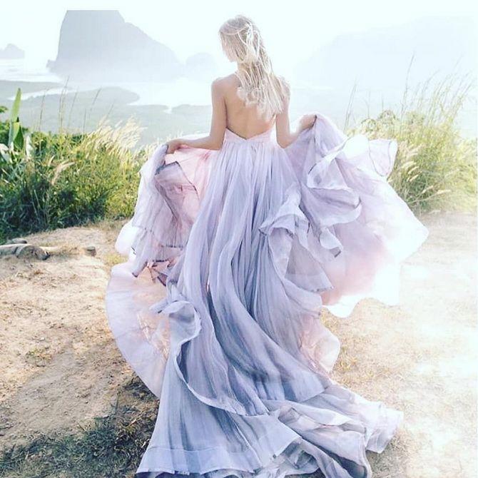 Цвета свадебных платьев 2021: основные тренды 31