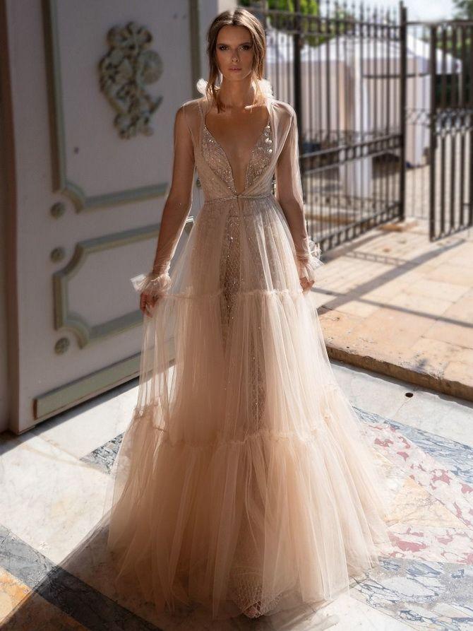 Цвета свадебных платьев 2021: основные тренды 45