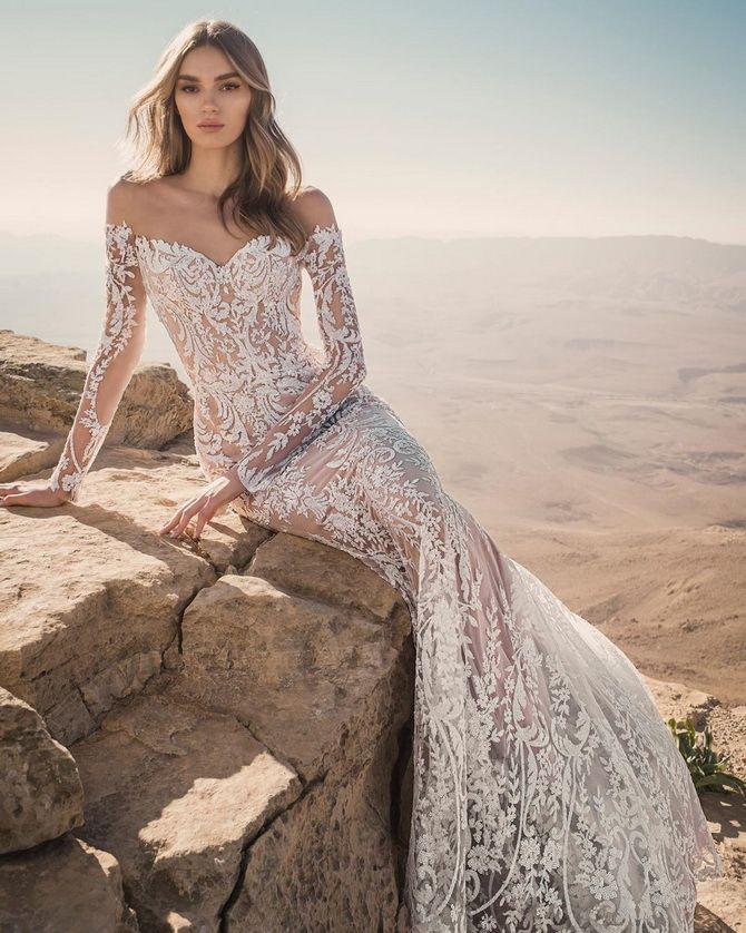 Цвета свадебных платьев 2021: основные тренды 46