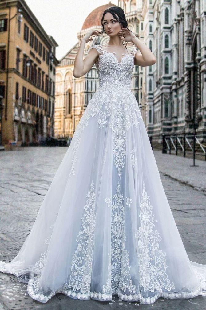 Цвета свадебных платьев 2021: основные тренды 49