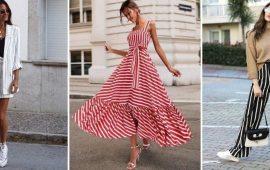 Модная одежда в полоску: тренды 2020-2021 года